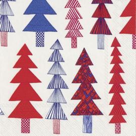 Marimekko Papieren servetten Kuusikossa Red Small