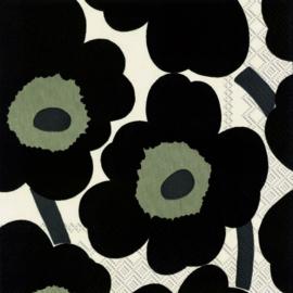 Marimekko Papieren servetten Unikko Black
