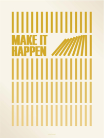 Vissevasse poster Make it Happen | Large