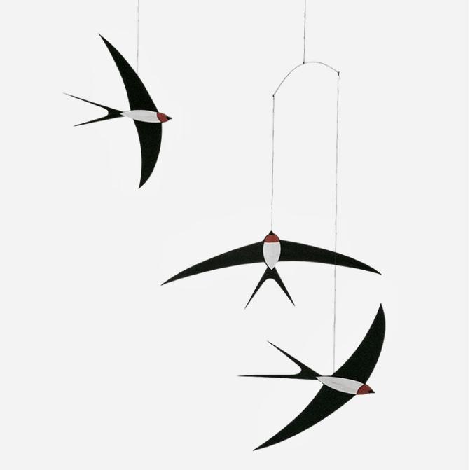 Flensted mobiel Flying Swallows 3  zwaluwen