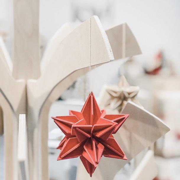Lovi Star houten ster kaart - Large - diverse kleuren