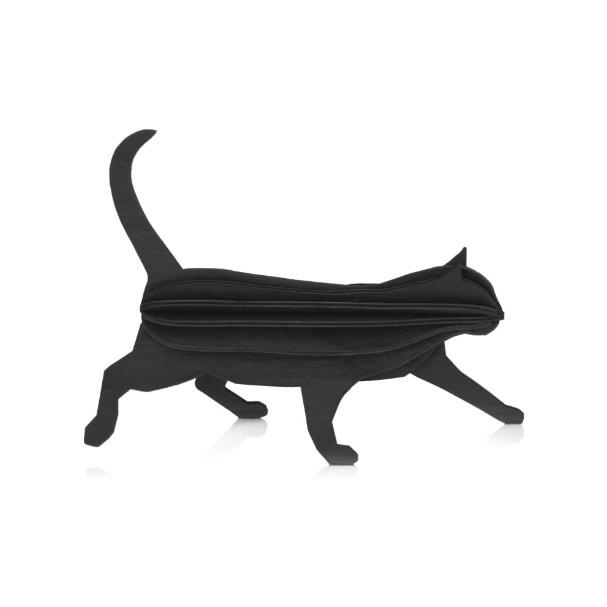 Lovi Cat houten katten kaart - Medium - diverse kleuren