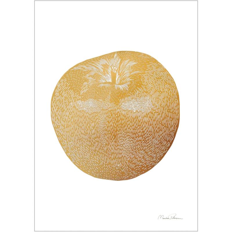 Monika Petersen Mini Art Print Apple   A5