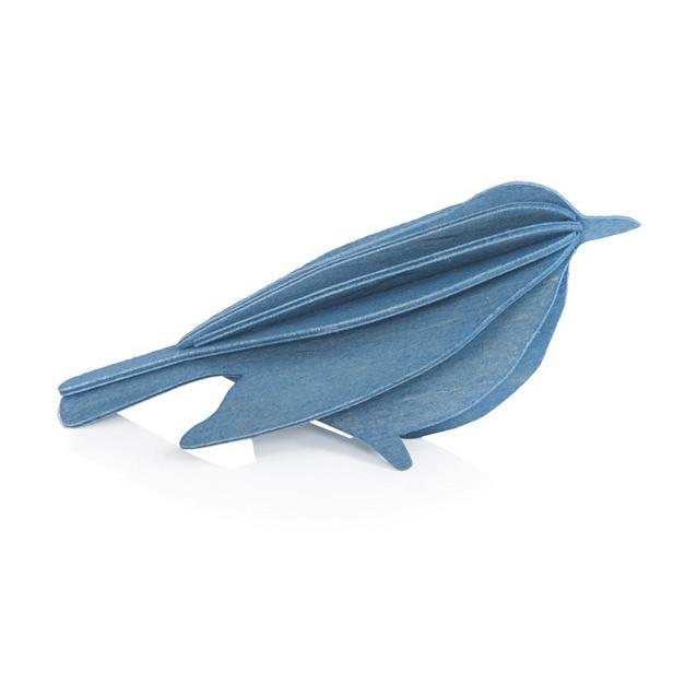 Lovi Bird houten vogel kaart - Small - diverse kleuren