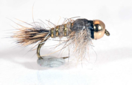 Tungsten Gold Ribbed Hare's Ear Nymph #12