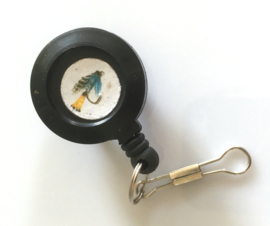 Pin on Reel  (Teal Blue & Silver)