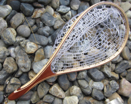 Wooden Fish Tail Handle Rubber Net