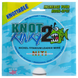 Knot to Kinky Nickel-Titanium wire  25lb