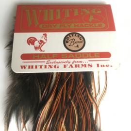 Whiting Dry Fly 1/2 Saddle Bronze (Midge Sizes Furnace)