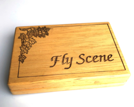 Fly Scene Wooden Nymph Box small