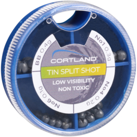 Cortland Tin Split Shot (non toxic)
