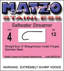 Grey Matzo Saltwater Streamer