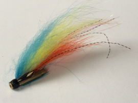 Tube Fly orange-yellow-blue