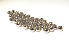 Brass Beads Silver