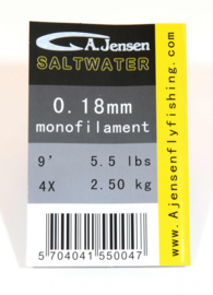 A.Jensen Tapered Leader 9ft -Trout-