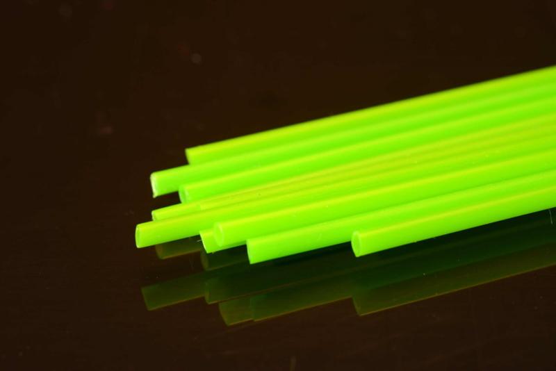 Hard Plastic Tube 1.8mm fluo green (2m)