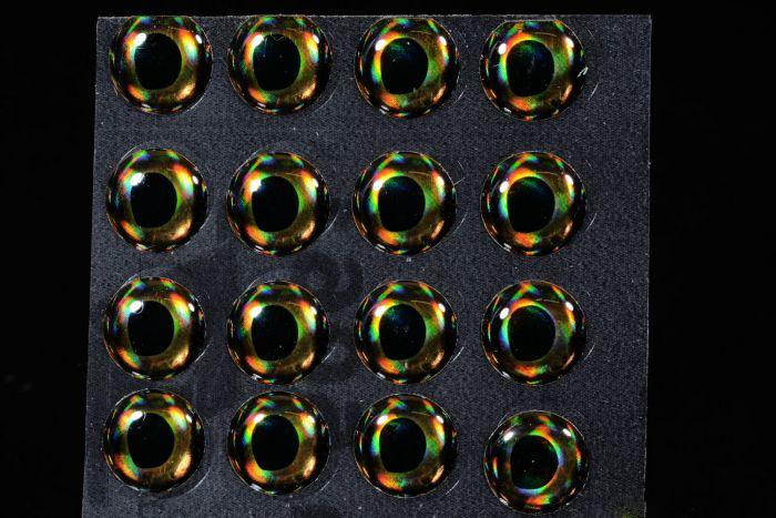 4D Living Eyes Golden Brown