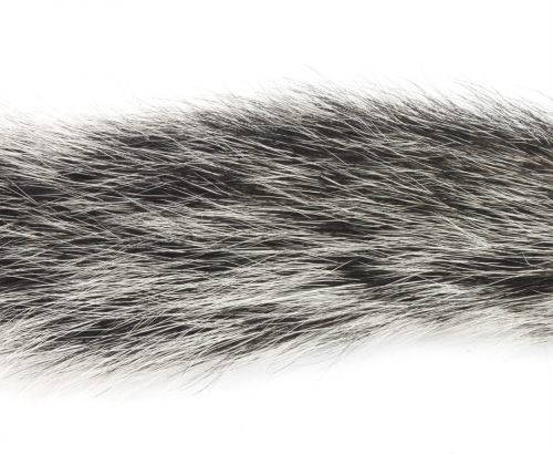 GREY SQUIRREL WHOLE NATURAL SILVER TIP AIR DRIED TAIL FOR FLY TYING