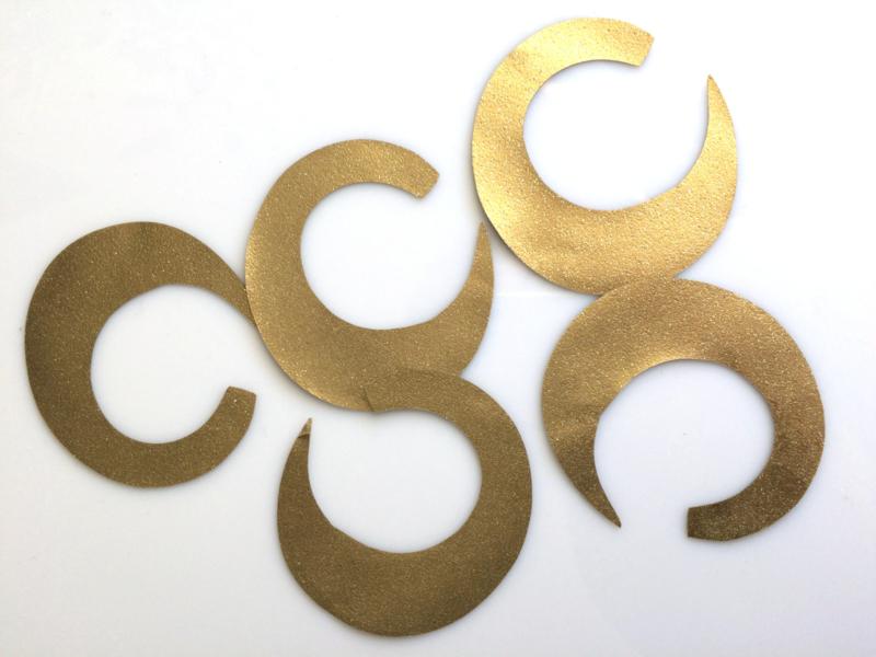 Curly Baitfish Tails Gold (Large)