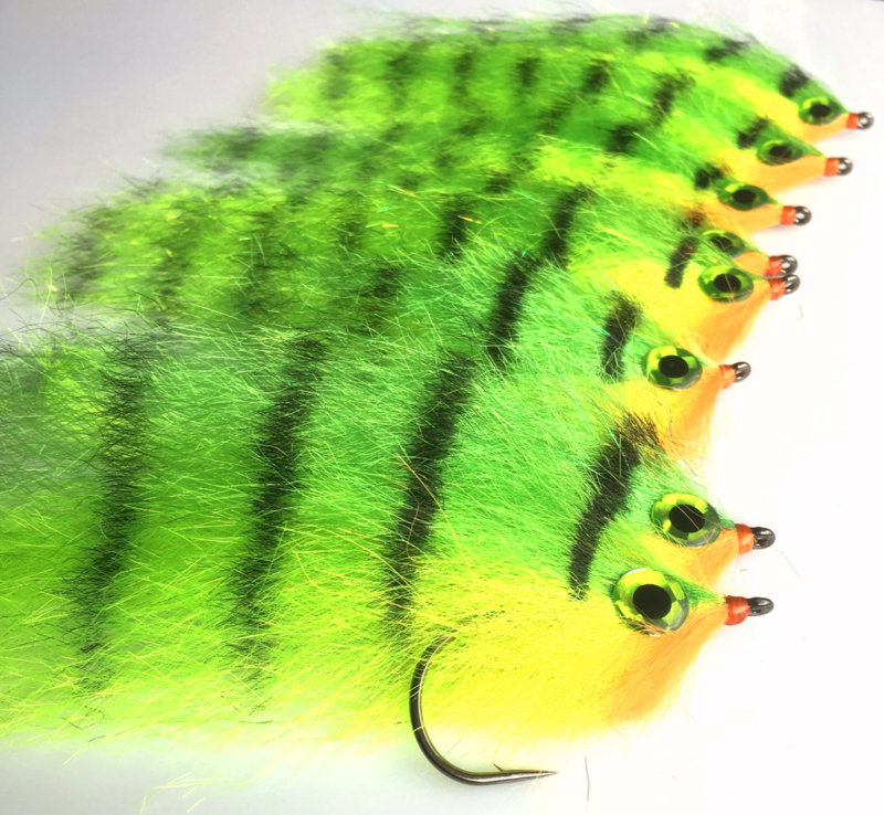 Pike Streamer Fire  Tiger Chartreuse  (18cm)
