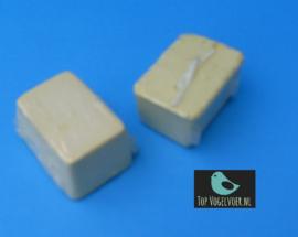 Pikblok (kalkblok) klein geel 1 stuk