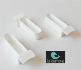 Plastic voerbakjes