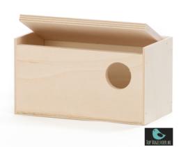 Nestkast gouldamadine recht model (10x19x10)