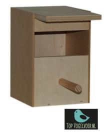 Nestkast tropen middel half open. (DxBXH) 10.8x10.5x15cm