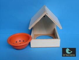 Nestkapel (14x14x17,5) incl. oranje nestje (10cm)