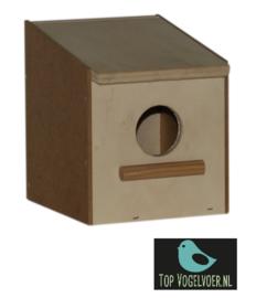 Nestkast tropen klein met invlieggat. Afmeting: (DxBXH) 11.5x10.5x13 cm