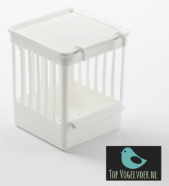 Tralienestkast plastic wit