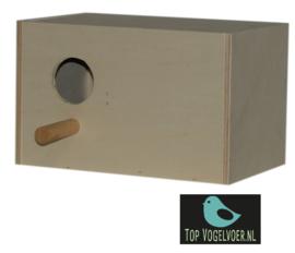 Nestkast agapornide liggend (16x25x16cm)