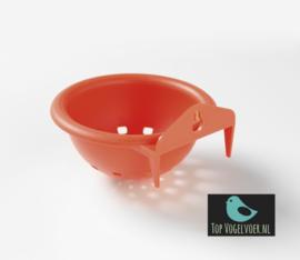 Nestje oranje  met oog/haak (10cm)