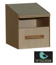 Nestkast tropen klein half open (DxBxH) 11.5x10.5x13cm