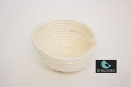 Inlegnest sisal wit klein ca. 9cm (1 stuks)