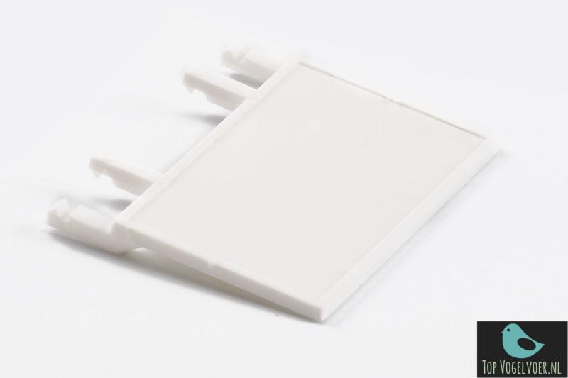 Voorfront klepje plastic wit