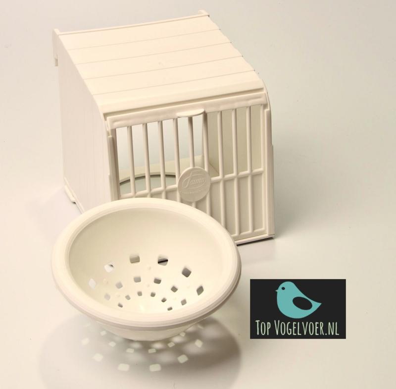 Voorhangnest plastic nestkast wit incl. wit nest