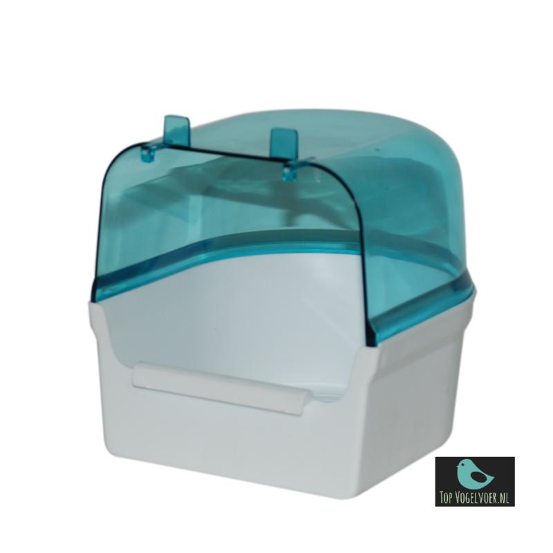 Badhuisje blauw met wit