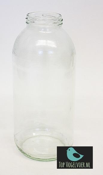 Glazen reservefles voor mijnlamp