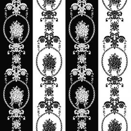 Love behang 136847 Baroque black & white barok wit