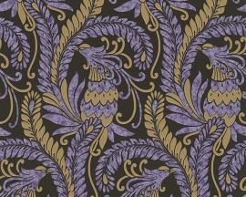 Behangpapier Barok Paars Goud 9438-52