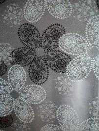 statische raam folie zwart bloemen xx92