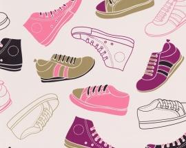 Behangpapier schoenen 93631-2