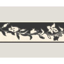 behangrand zwart rozen x5