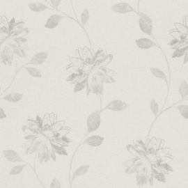 Bloemen Behang Creme 425116