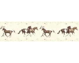 meisjes crème paarde kleur behangrand 35838-2