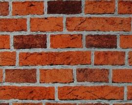 Behangpapier Steen Rood Bruin 7798-16