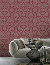 rood barok behang 13701-40