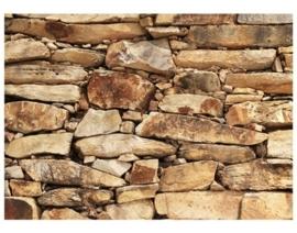 Fotobehang Wall of Sandstones 237