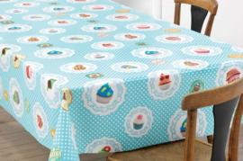 Tafelzeil Cupcakes 150-017 Blauw